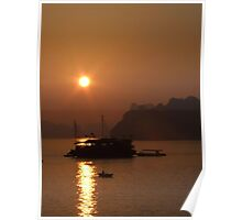 Sunset - Halong Bay, Vietnam Poster