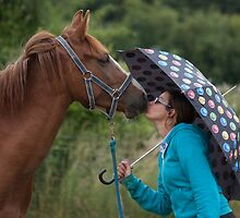 Kissing in the rain by Gill Langridge