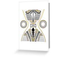 Angled Geometric shapes white Greeting Card