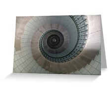 Spiral staircase I'le Vierge Lighthouse, Brittany, France Greeting Card