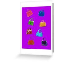 Bags, bags, bags Greeting Card
