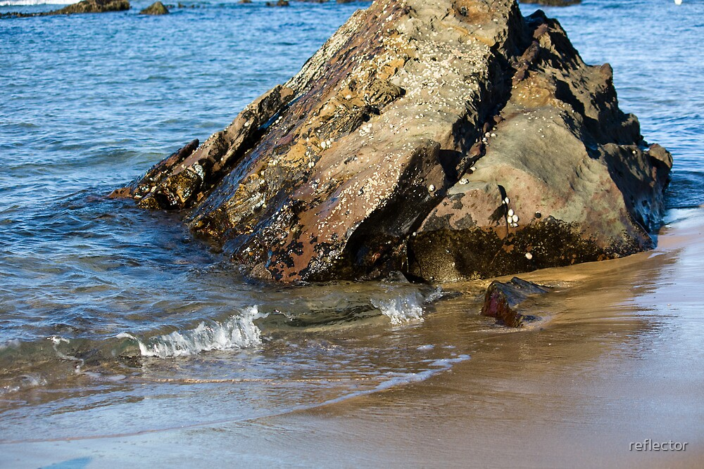 Lapping On The Shore by reflector