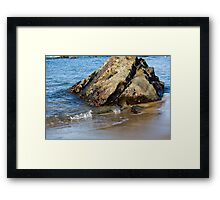 Lapping On The Shore Framed Print