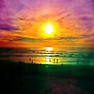 Sunset over the Pacific Ocean by marcy413