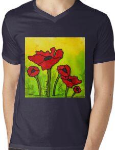 Doing The Poppy Shuffle Mens V-Neck T-Shirt