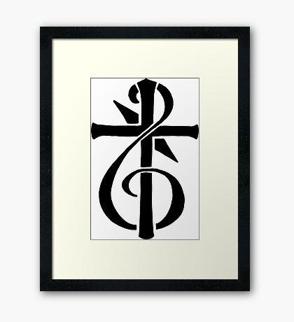 Treble-Cross Framed Print