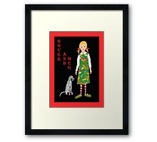 "'Rover and Meg"" , Little girl and her dog Framed Print"