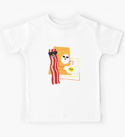 Cool Bacon and Eggs  Kids Tee