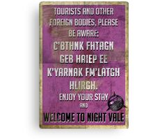 WELCOME TO NIGHT VALE PSA Canvas Print