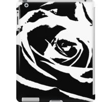 Artsy Black And White Rose  iPad Case/Skin