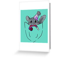 Pocket chinchilla Greeting Card