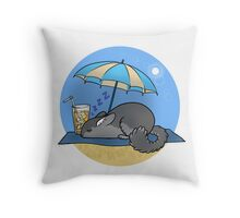 Chinchilla Holiday Throw Pillow