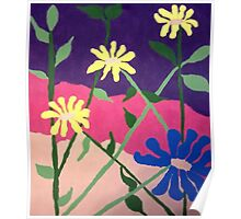 Bold Floral Abstract Poster