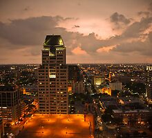 Down town St Petersburg Fl by Val Ritter