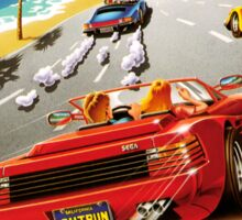 Out run Genesis Megadrive Sega Box cover Sticker