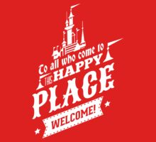 Magic Kingdom - Walt's Happy Place Kids Tee