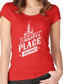 Magic Kingdom - Walt's Happy Place Women's Fitted Scoop T-Shirt