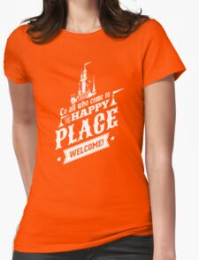 Magic Kingdom - Walt's Happy Place Womens Fitted T-Shirt