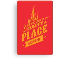 Magic Kingdom - Walt's Happy Place Canvas Print