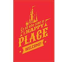 Magic Kingdom - Walt's Happy Place Photographic Print