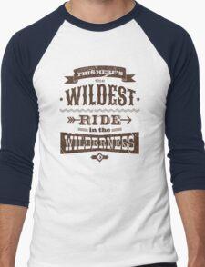 Big Thunder - Brown/Burnt Orange Men's Baseball ¾ T-Shirt