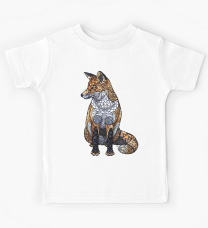 Stained Glass Fox Kids Tee