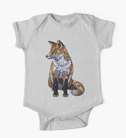 Stained Glass Fox One Piece - Short Sleeve
