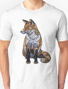Stained Glass Fox Unisex T-Shirt