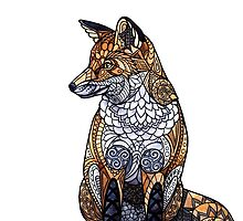 Stained Glass Fox by ZHField