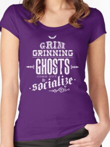 Haunted Mansion - Grim Grinning Ghosts Women's Fitted Scoop T-Shirt