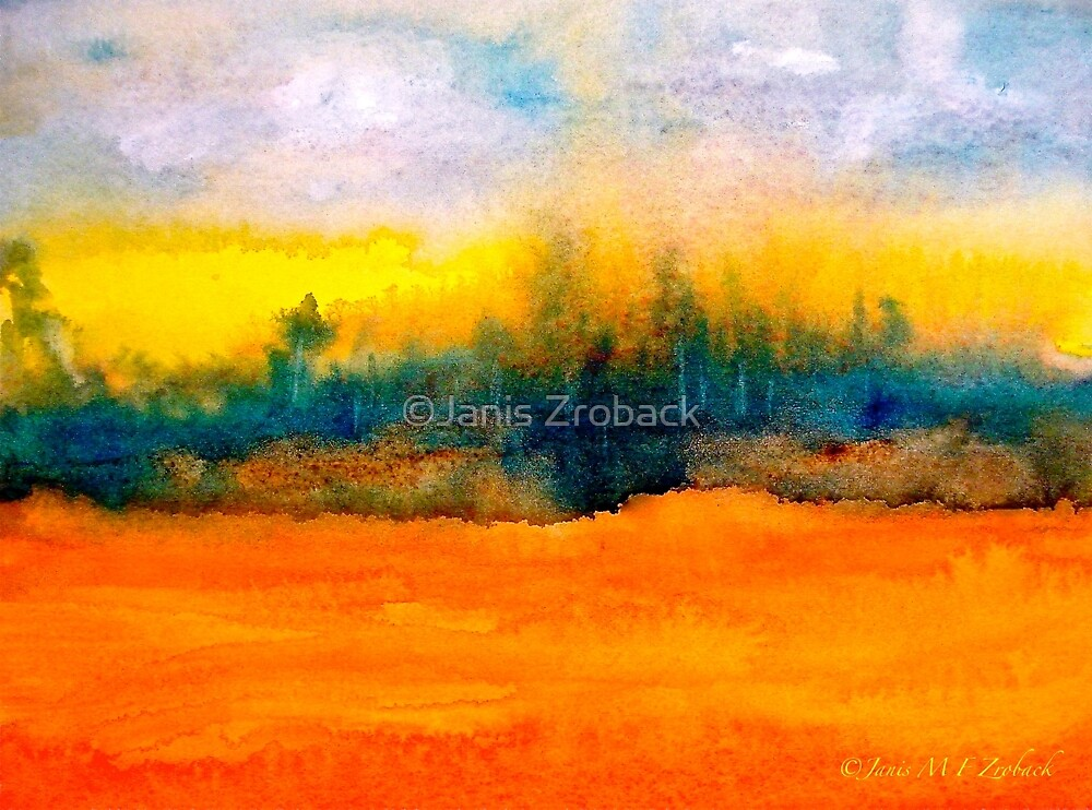 Landscape Abstract...Fantaisie by ©Janis Zroback