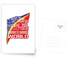 Captain EO - Change the World Postcards