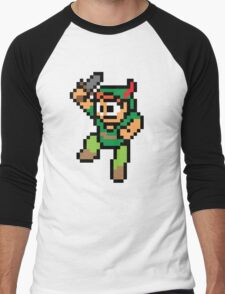 Mega Pan / Pixel Peter Men's Baseball ¾ T-Shirt