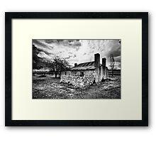 Cottage in the Vineyard Framed Print
