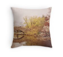 Beautiful Springtime Landscape - Central Park - New York City Throw Pillow