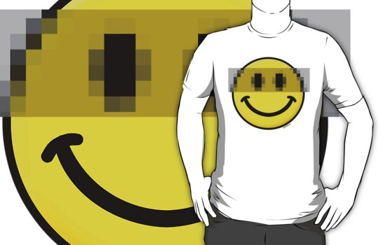 Pixelated Smiley Face by Stuart Stolzenberg