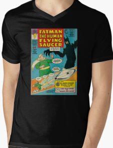 Fatman The Human Flying Saucer Mens V-Neck T-Shirt
