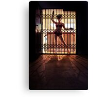 ...I like to rattle the cage... Canvas Print