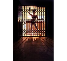 ...I like to rattle the cage... Photographic Print