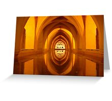 Pool of reflections, Seville, Spain, 2003 Greeting Card
