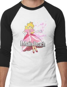 I Main Peach - Super Smash Bros. Men's Baseball ¾ T-Shirt