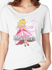 I Main Peach - Super Smash Bros. Women's Relaxed Fit T-Shirt