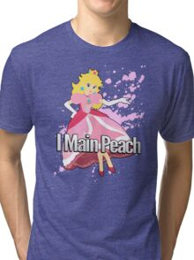 I Main Peach - Super Smash Bros. Tri-blend T-Shirt
