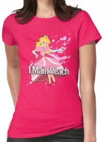 I Main Peach - Super Smash Bros. Womens Fitted T-Shirt