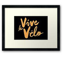 Vive le Velo v2 Framed Print
