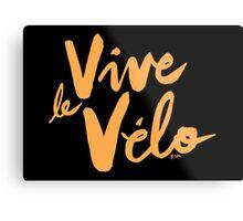 Vive le Velo v2 Metal Print