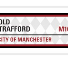 Manchester United Road Sign Sticker