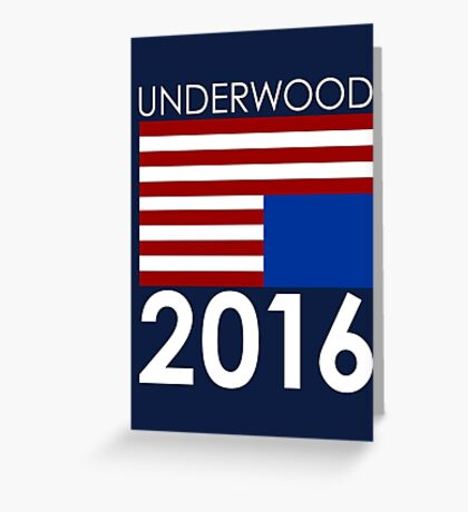 UNDERWOOD 2016 Greeting Card