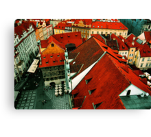 The Roofs of Prague Canvas Print