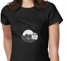 Whoot Owl - Circle Design Womens Fitted T-Shirt